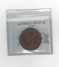 **1933**Australia, Penny, Coin Mart  Graded**EF-40**