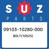 09103-10280-000 Suzuki Bolt(10x25) 0910310280000, New Genuine OEM Part
