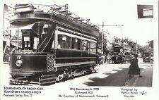 Dorset Transport Postcard - Old Bournemouth 1929 - Richmond Hill Tram EE255