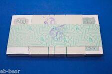A bundle of 100 pcs 20 Kyat Myanmar Uncirculated Banknotes UNC Asia Paper Money