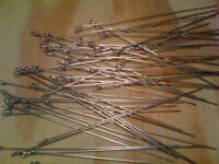 100 Straight w/ Loop 6 inch Wire Forms .035 Wire Make Spinners