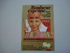advertising Pubblicità 1971 PERUGINA BONHEUR