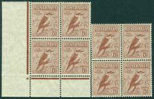 Edw1949Sell : Australia 1932 Sc #139. 2 Blks of 4 Both Vfmnh Very Fresh Cat $220