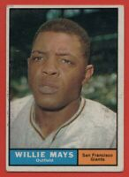 1961 Topps #150 Willie Mays EX MARKED WRINKLE San Francisco Giants FREE SHIPPING