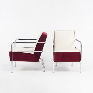 Pair of Gunilla Allard for Lammhults Cinema Chairs in Pierre Frey Velvet/Cotton
