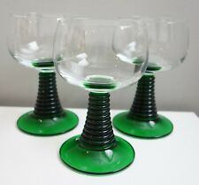 Green Roemer FRANCE Set 12 Wine Water Goblets Luminarc Cristal d'Arques Glass