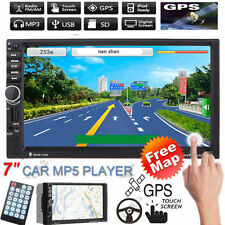 "MAP+7"" 2DIN Bluetooth Touch Car Stereo Radio MP3 CD TV Player GPS Nav FM/USB/TF"
