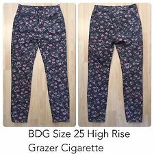 "BDG Jeans High Rise Grazer Cigarette Size 25 Floral Inseam 27"" UVGC"