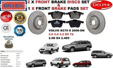 FOR VOLVO XC70 II 2007- 2.0.2.4 3.0 3.2 FRONT BRAKE DISCS SET + BRAKE PADS KIT