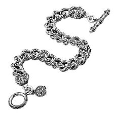 Medieval-Byzantine Chain Link Bracelet B332 ~ Sterling Silver