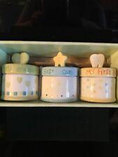 Set Of 3 Baby Trinket Boxes. Nib