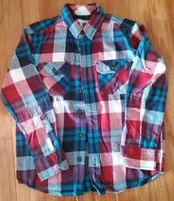PS AEROPOSTALE KIDS BURGUNDY PLAID FLANNEL SHIRT T-SHIRT  BOY'S SIZE S 8