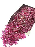 Lot of Dark Pink Gemstone Assorted Loose Gems 500ctw Scrap Mix Jewelry Making