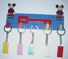 CUSTOM LEGO KEY HOLDER RACK  MICKEY MOUSE FIGURE WALL MOUNT KEYCHAIN NICE GIFT