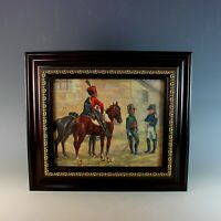 Oil Painting of French Napoleonic Soldiers Signed S. Kalinsky