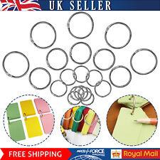 More details for split rings binding metal loop hook o ring hinged book binder album key chain