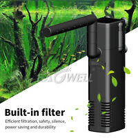 Black 220-240V 50Hz Aquarium Fish Tank 3 in 1 Water Pump Aquatic Internal Filter