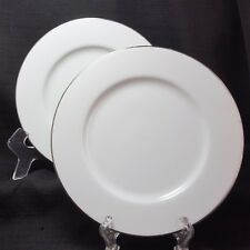 "Royal Doulton Simply Platinum Salad Plates Set of 2 White 7-5/8"""