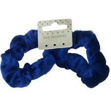 2 x chouchou élastiques à cheveux bleu velours - diamètre intérieur 3,5cm