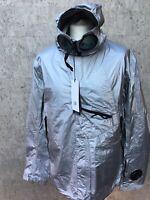 C.P. Company Memec Explorer Goggle Jacket in Sliver RRP £535 BNWT Size 3XL