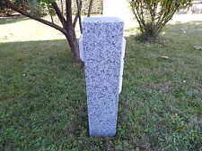 Gartensteckdose Granit Stein Stele Doppelsteckdose Steckdosensäule Gartendeko