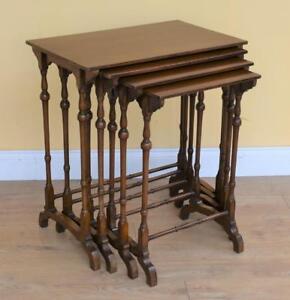 Set Four Edwardian Mahogany Nest Tables