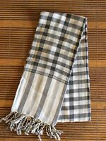 e6ec8ed465fe6 Krama traditionnel mixte gris Echarpe Khmère 100% COTON Tissé scarf  Cambodge 61