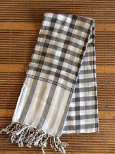 Krama Traditional Mixed Grey Scarf Khmer 100% Cotton Woven Scarf Cambodia 61