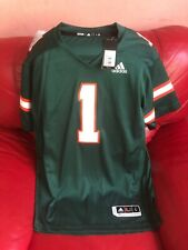 adidas Miami Hurricanes Premier Football Jersey Nwt Mens Size L