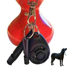 More details for dog clicker whistle training, pet puppy cat trainer kit, bark, paracord, black