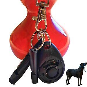 Dog Clicker Whistle Training, Pet Puppy Cat Trainer Kit, Bark, Paracord, Black
