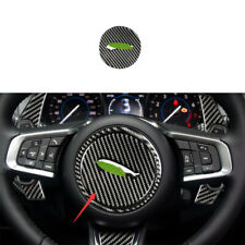 For Jaguar XE 2016-2019 Real Carbon Fiber Steering Wheel Horn Button Cover Trim