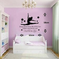 Gymnast Gymnastic,Girls Bedroom Quote, Vinyl Wall Art Sticker Decal