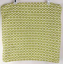 Textured Throw Pillow Case Size 20 x 20 Inch Green White Throw Pillow Cover
