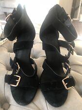 Black Office Strappy Heels 5/38