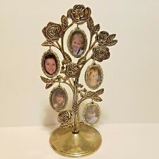 Photo Tree Silverplate Rose Bush Collage Frame Double Sided Holds 10 pictures