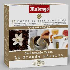Malongo Grande Reserve - 168 Pads Espresso, Expresso, Cafe, Caffe, Kaffee, 1,2,3