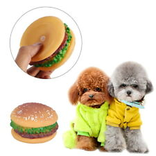 1Pc  Pet Toy Sound Hamburger Food Shaped Squeaky Puppy Dog Play Toys