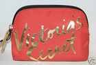 NEW VICTORIA'S SECRET RED GOLD MAKEUP COSMETIC CASE BAG CLUTCH ORGANIZER SMALL
