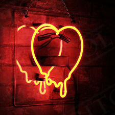 11'' Dripping Heart Neon Sign Light Wall Window Bar Beer Pub Club Vintage Store