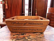 VINTAGE STYLE, PALACE OF WESTMINSTER BREAD BASKET, TRUG, PLANTER. SIZE 3