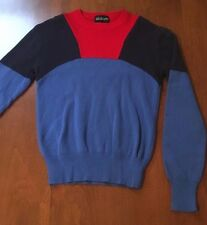 Vintage Slalom Brand Wool Sweater - Size Small - Red , Royal Blue & Navy