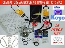 NEW TOYOTA CAMRY RAV4 2.0 & 2.2L COMPLETE OEM TIMING BELT WATER PUMP KIT 17 PCS