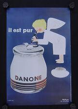 Affiche YAOURT DANONE ANGE angel OLEG ZINGER yoghourt Yogurt Joghurt 40X60 cm