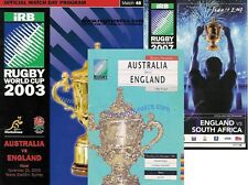 3 x ENGLAND RUGBY WORLD CUP FINAL PROGRAMMES 1991, 2003 & 2007