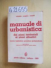 AUTORI VARI - MANUALE DI URBANISTICA - PIROLA EDITORE - 1985