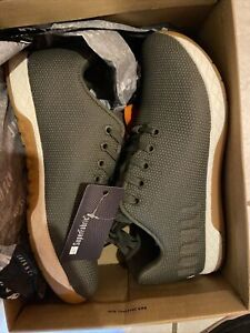 No Bull Superfabric Low Trainer Size M8 W9.5 Army Ivory & Gum