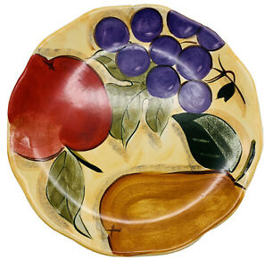 "Home Trends VERDONA Fruit  DINNER PLATE  1pc. 11"""