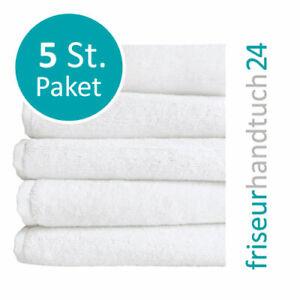 Friseur Handtücher WEIß 5 x Stück 95°Wäsche 90 x 50 cm 100% Mikrofaser Handtuch