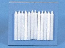 Dolls House Accessories Set Of 12 White Candles  LA23
